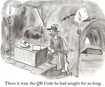 qr code history comic